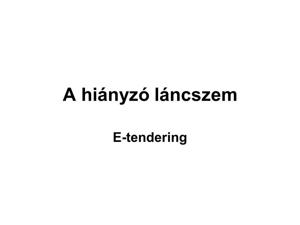 A hiányzó láncszem E-tendering
