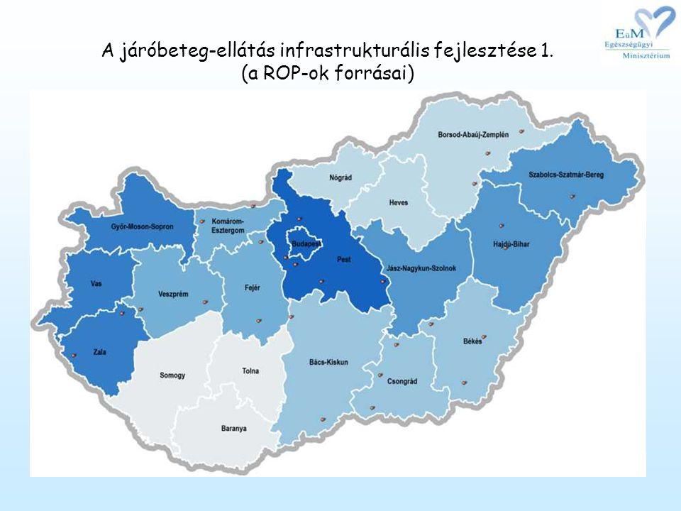 •A járóbeteg-szakellátás fejlesztését a Regionális Operatív Programok is jelentős pályázati forrásokkal támogatják: a 2007-2008.