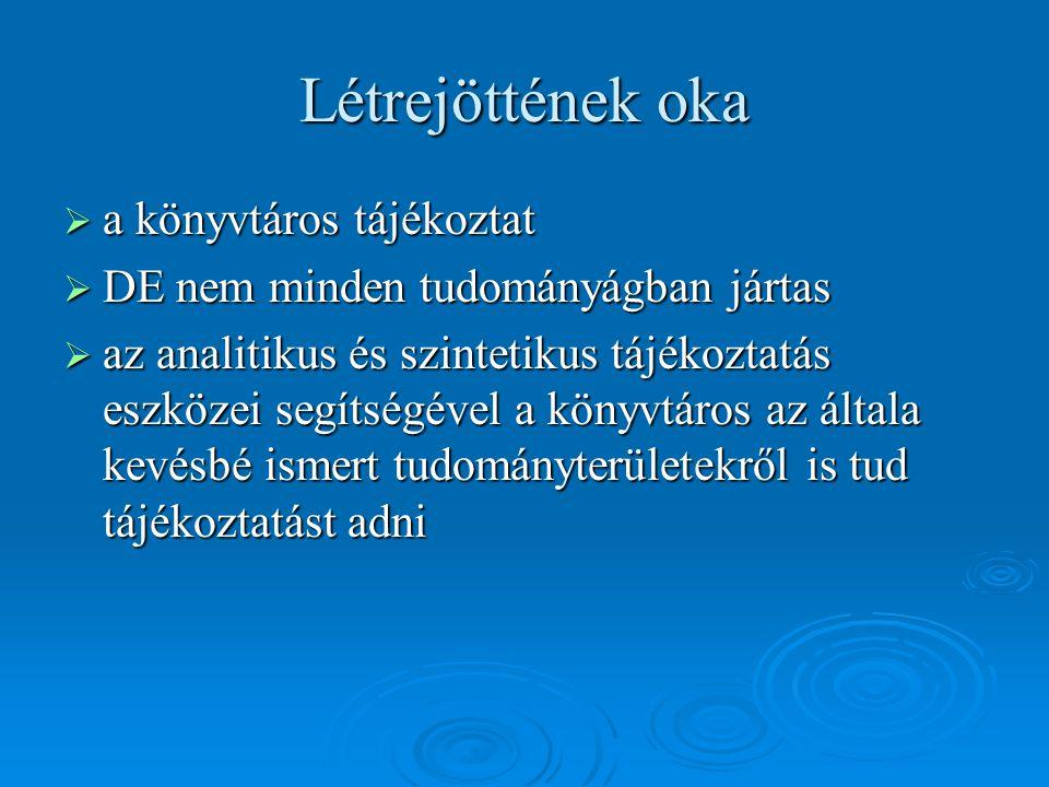  Burmeister Erzsébet – Kiss Andrea: MATARKA - magyar folyóiratok tartalomjegyzékeinek kereshető adatbázisa In: Könyv, könyvtár, könyvtáros, 12.