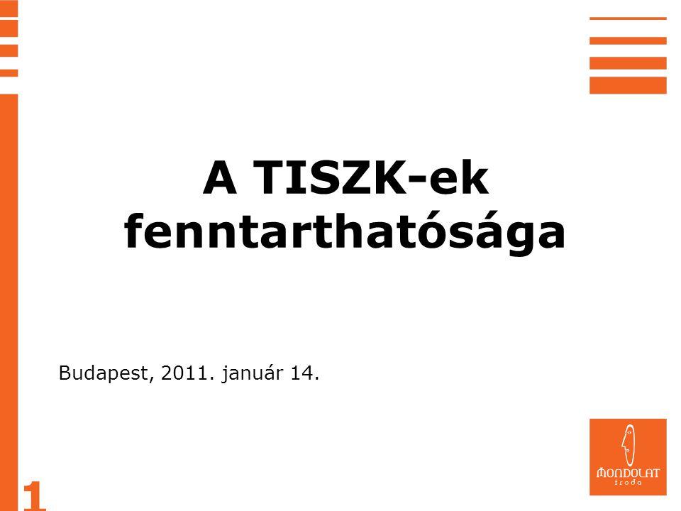 A TISZK-ek fenntarthatósága 1 Budapest, 2011. január 14.
