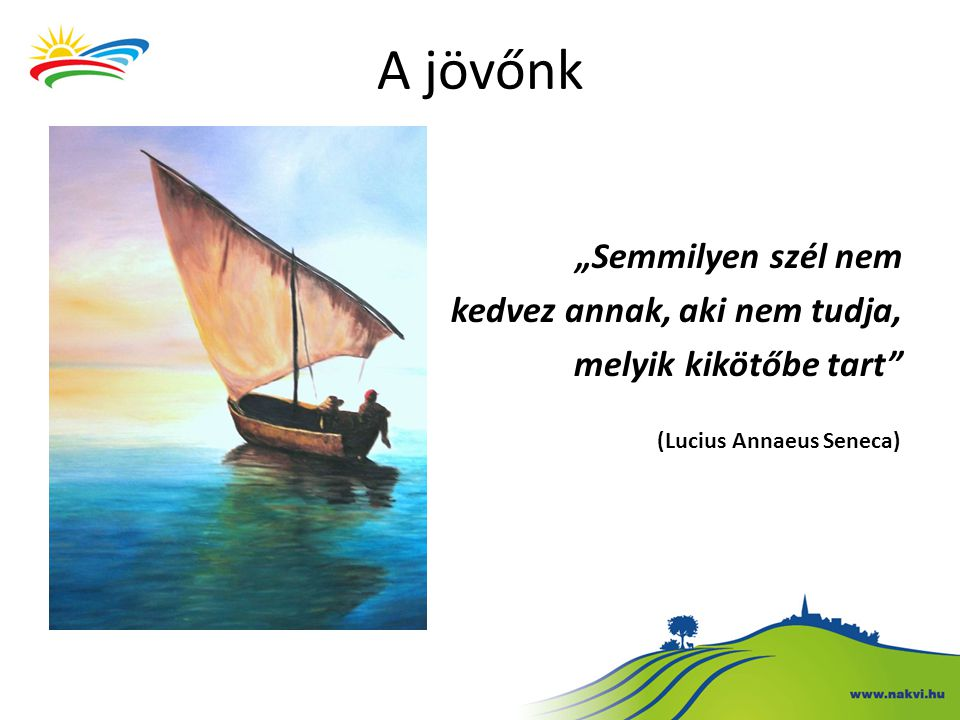 """""""Semmilyen szél nem kedvez annak, aki nem tudja, melyik kikötőbe tart"""" (Lucius Annaeus Seneca) A jövőnk"""
