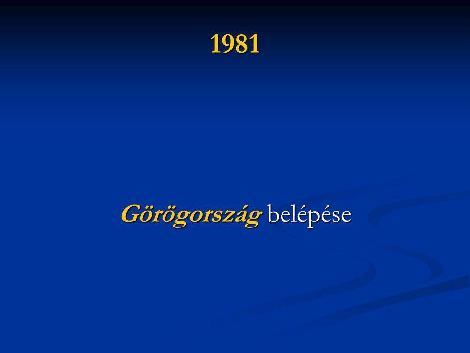 1981 Görögország belépése
