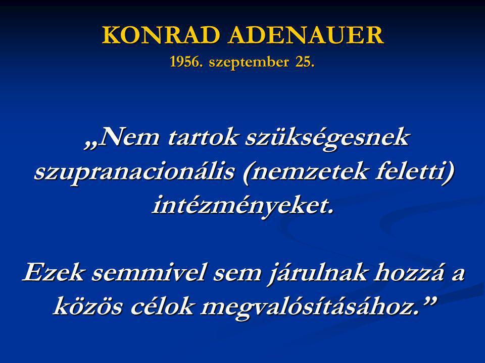 KONRAD ADENAUER 1956. szeptember 25.