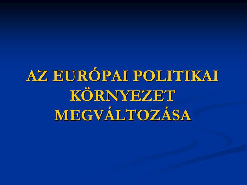 AZ EURÓPAI POLITIKAI KÖRNYEZET MEGVÁLTOZÁSA