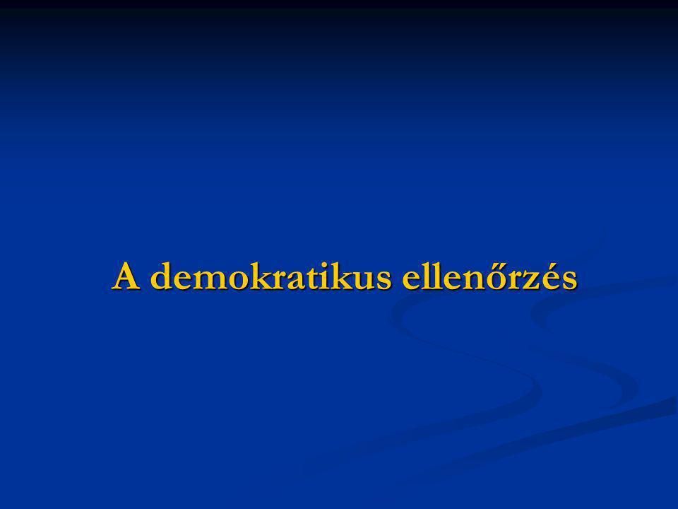 A demokratikus ellenőrzés