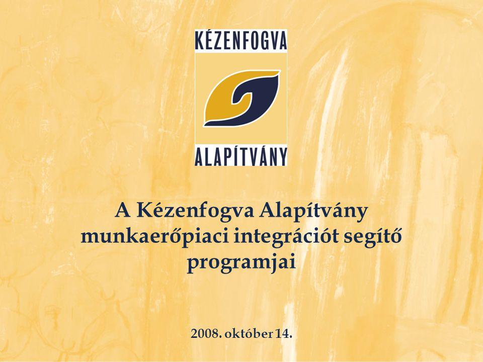  Finanszírozó: Európai Bizottság EQUAL Program és Magyar Köztársaság  Projekt-időszak: 2005 - 2008  Cél: értelmi, halmozottan fogyatékos, autista emberek foglalkoztatásának rendszerszemléletű fejlesztése Aktív Műhely projekt