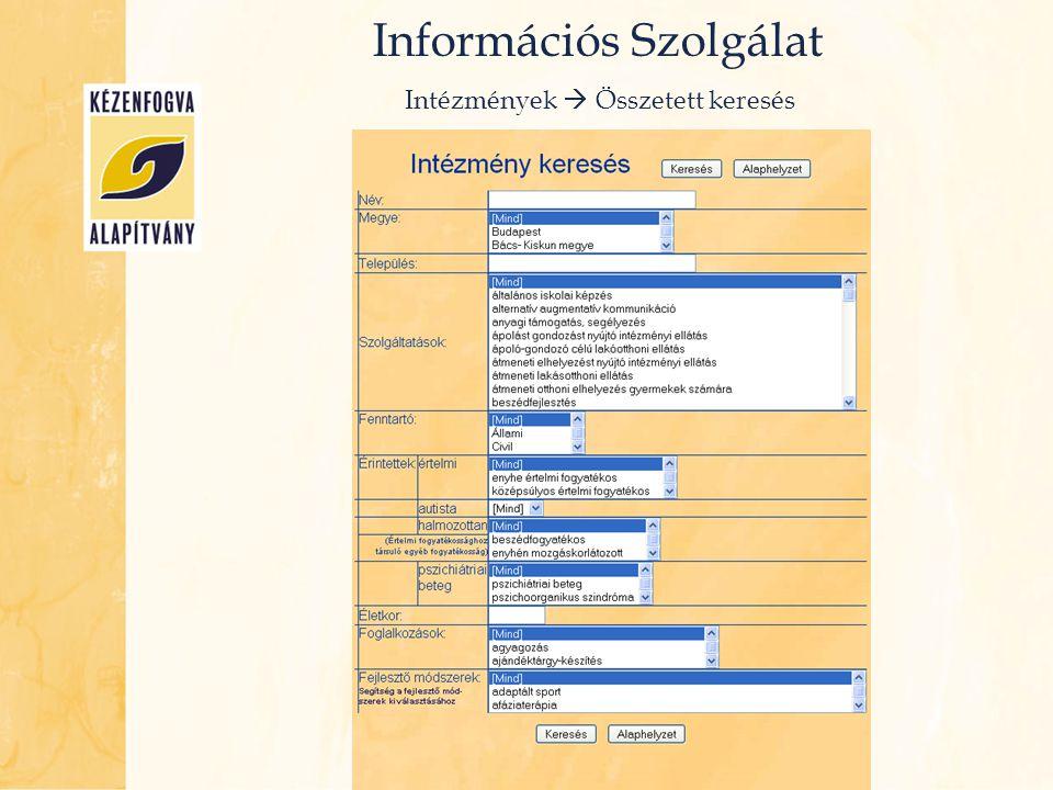 Információs Szolgálat Ellátások  Megnevezés, Típus, Jogosultság stb.