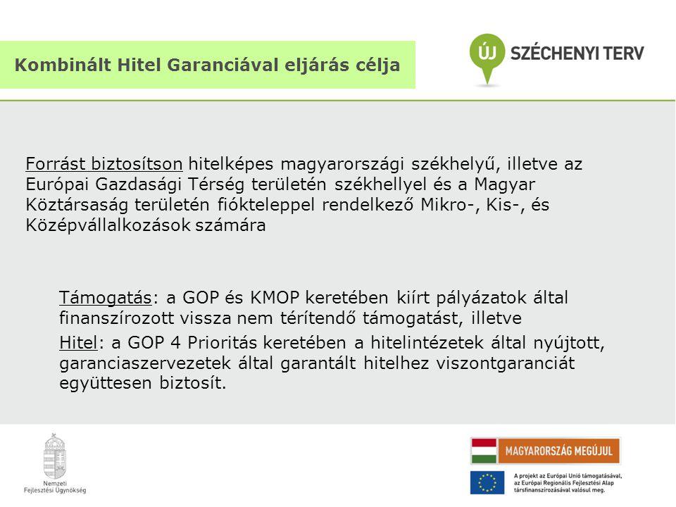 Forrást biztosítson hitelképes magyarországi székhelyű, illetve az Európai Gazdasági Térség területén székhellyel és a Magyar Köztársaság területén fi