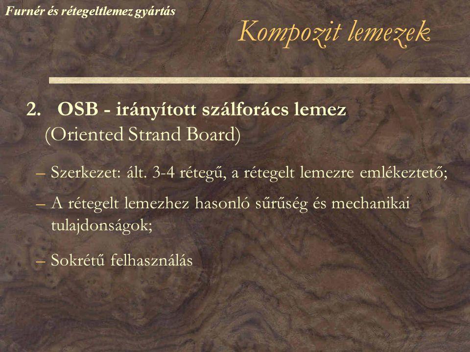 Kompozit lemezek –Szerkezet: ált.