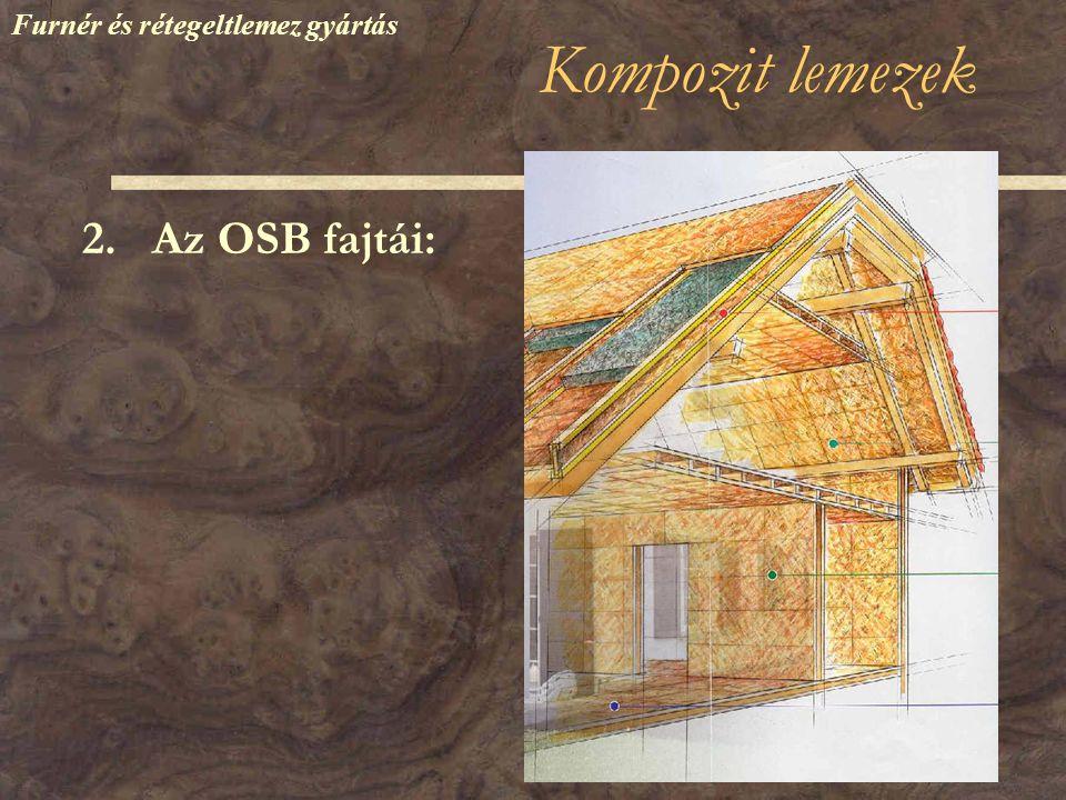 Kompozit lemezek 2. Az OSB fajtái: Furnér és rétegeltlemez gyártás
