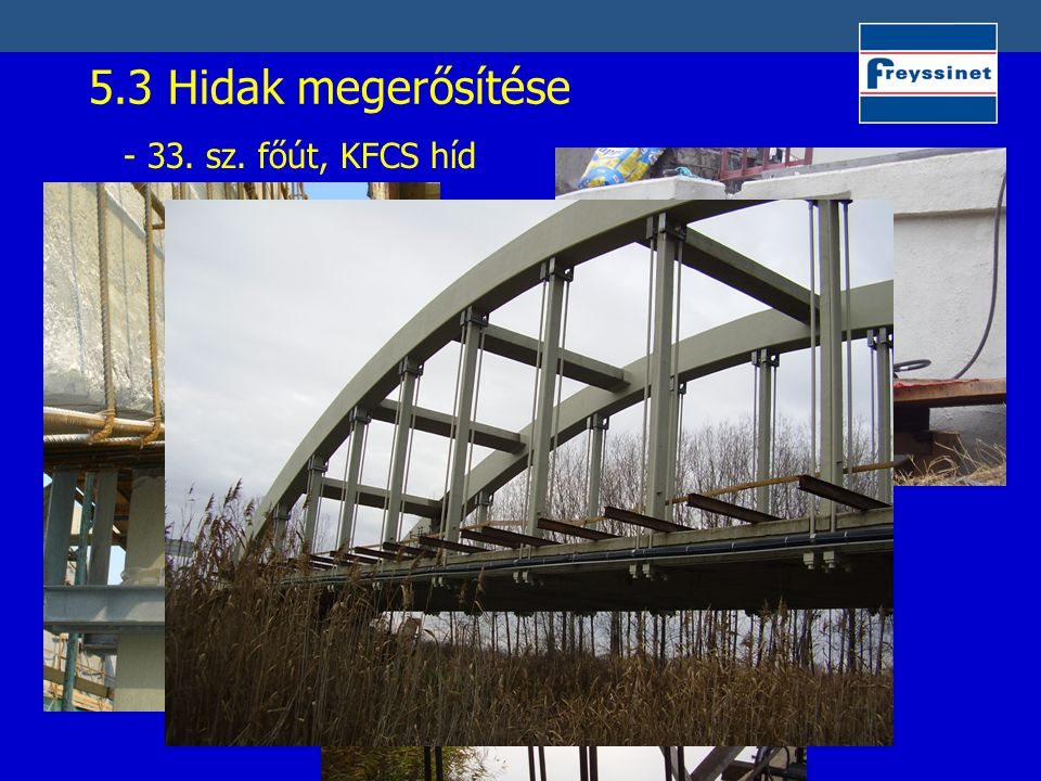 5.3 Hidak megerősítése - 33. sz. főút, KFCS híd