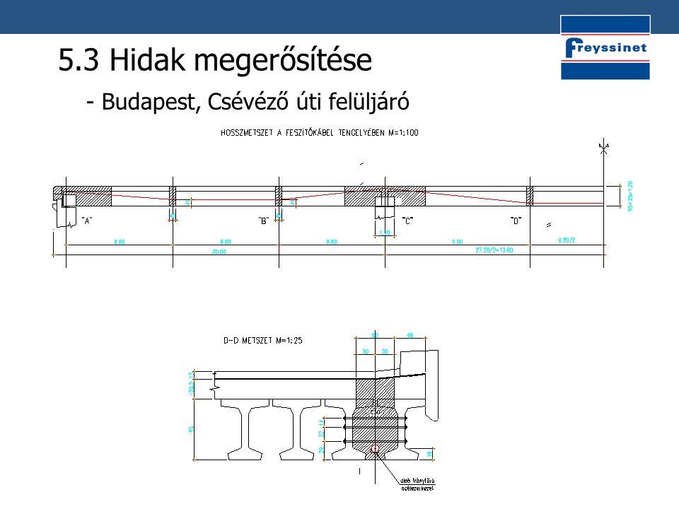 5.3 Hidak megerősítése - Budapest, Csévéző úti felüljáró