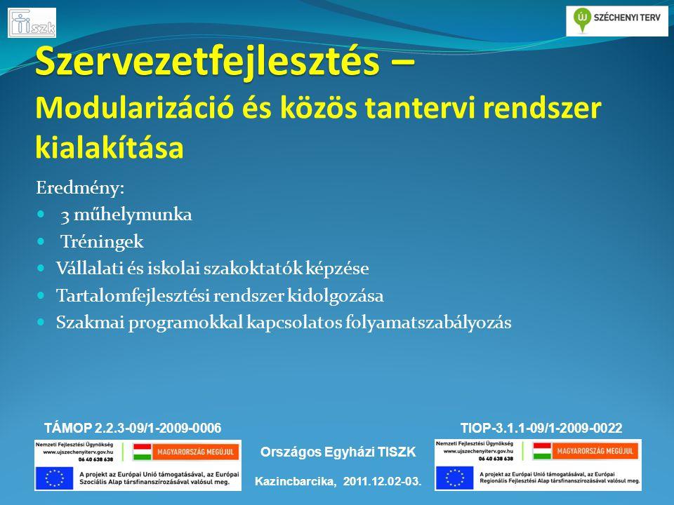 TÁMOP 2.2.3-09/1-2009-0006TIOP-3.1.1-09/1-2009-0022 Kazincbarcika, 2011.12.02-03.