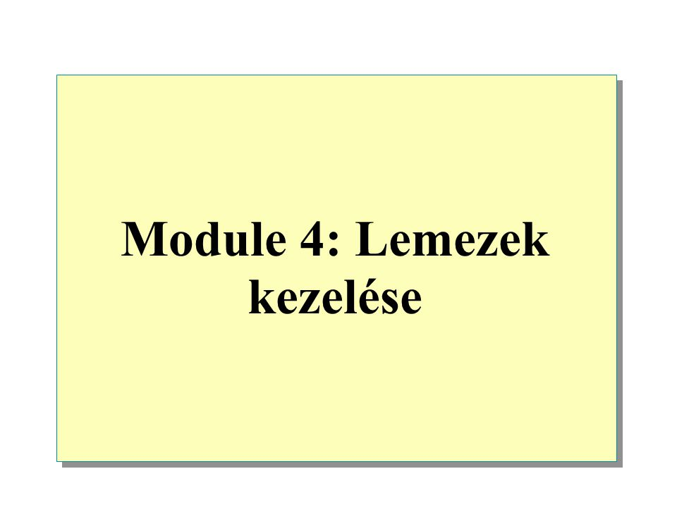 """Moving Dynamic Disks Dinamikus lemezek áthelyezése  When moving a dynamic disk, select import foreign disk to update the dynamic database on the newly added disk Ha a dinamikus lemezt akarod áthelyezni, válaszd a """"külső lemezt importálása -t,hogy frissítsd a dinamikus adatbázist az újonnan hozzáadott lemezen  When moving multidisk volumes, move all disks in the volume at the same time ha többlemezes köteget mozgatsz,akkor az összes lemezt a kötegen egyszerre mozgasd Moving a disk"""