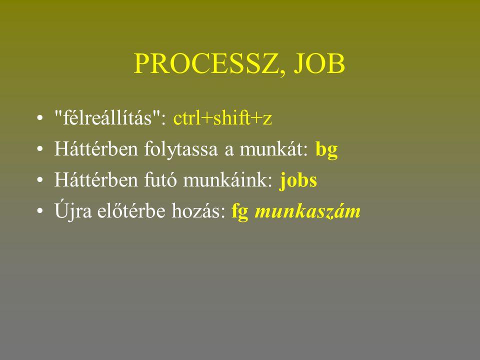 PROCESSZ, JOB •