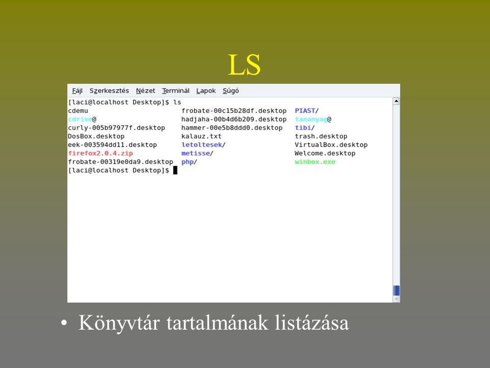 LS •Könyvtár tartalmának listázása