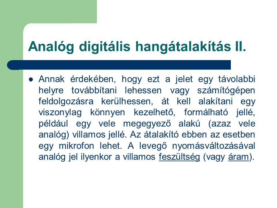 Analóg digitális hangátalakítás II.