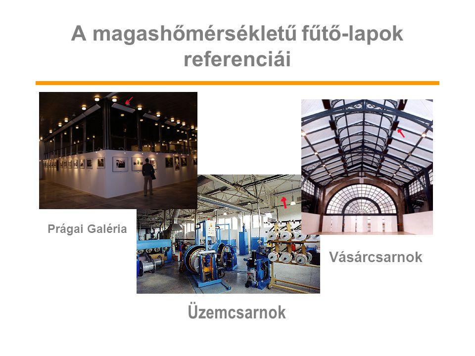 A magashőmérsékletű fűtő-lapok referenciái Üzemcsarnok Vásárcsarnok Prágai Galéria
