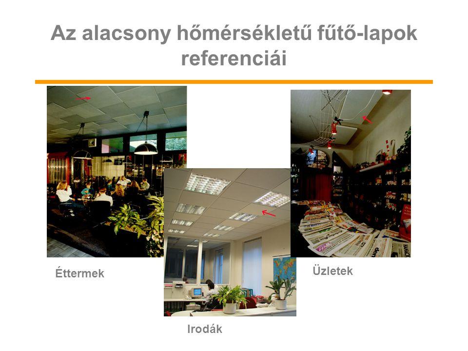 Irodák Üzletek Éttermek Az alacsony hőmérsékletű fűtő-lapok referenciái