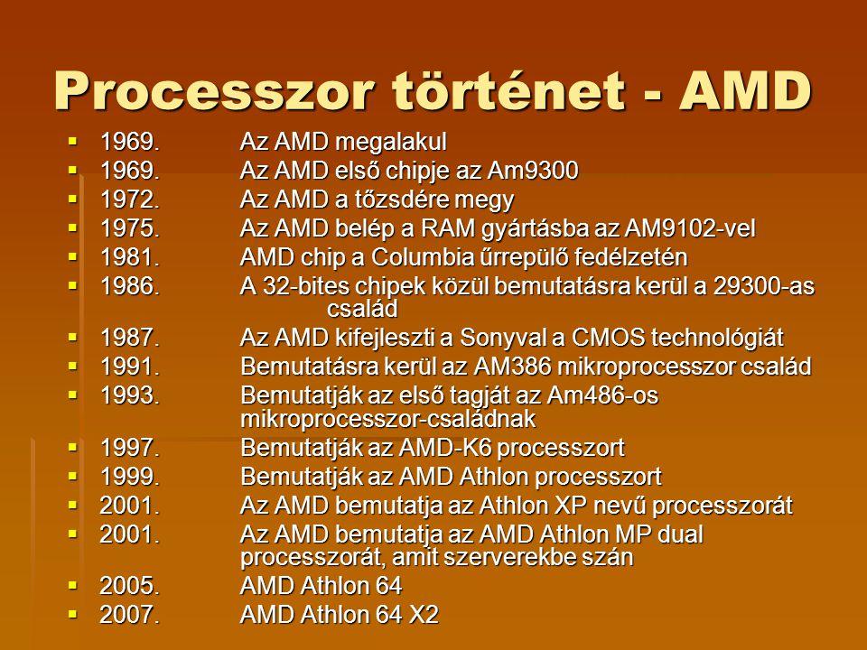 Processzor történet - AMD  1969.Az AMD megalakul  1969.