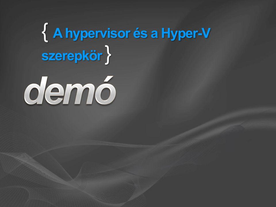 { A hypervisor és a Hyper-V szerepkör }