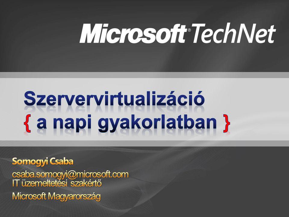Szülő partíció Gyermek partíciók Kernel mód User mód Virtualization Service Providers (VSPs) Windows Kernel Server Core IHV Megh.