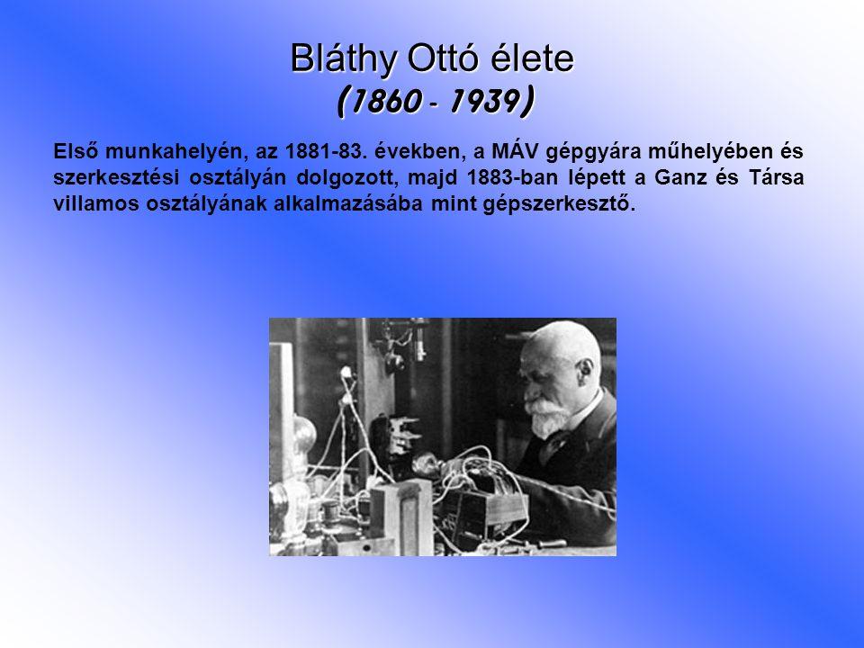 Első munkahelyén, az 1881-83. években, a MÁV gépgyára műhelyében és szerkesztési osztályán dolgozott, majd 1883-ban lépett a Ganz és Társa villamos os