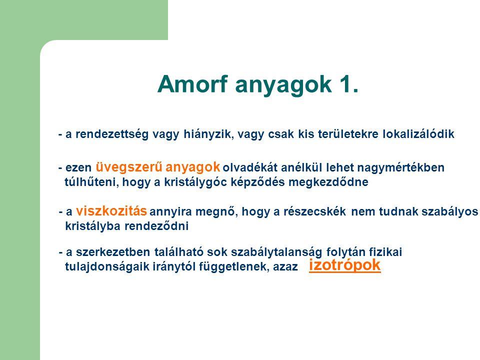 Amorf anyagok 2.