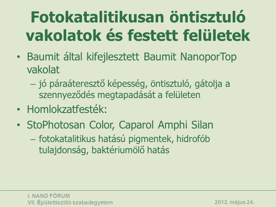 Kopásállósági vizsgálatok (kerámia, kő, beton) I.NANO FÓRUM VII.