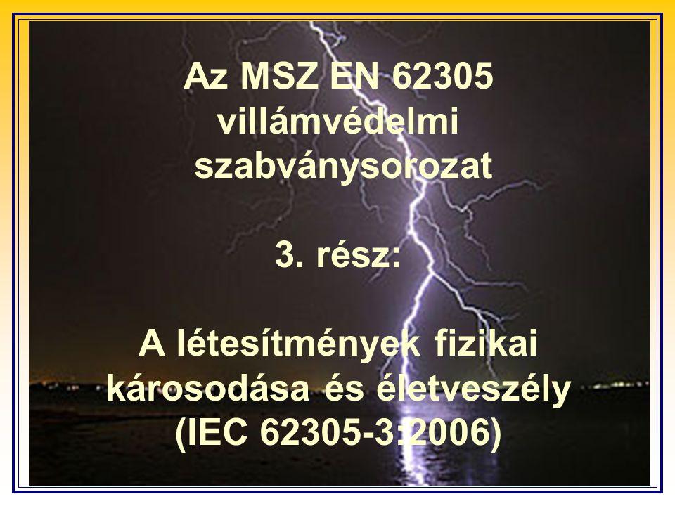 Az MSZ EN 62305 villámvédelmi szabványsorozat 3. rész: A létesítmények fizikai károsodása és életveszély (IEC 62305-3:2006)