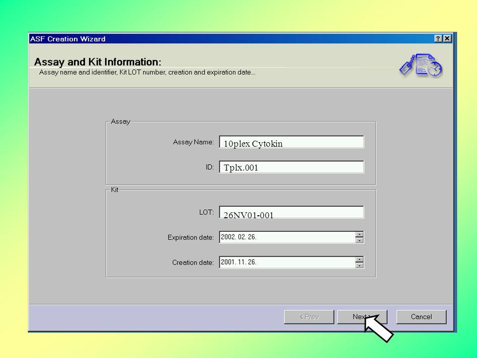 Assay Specifikációs Fájlok generálása