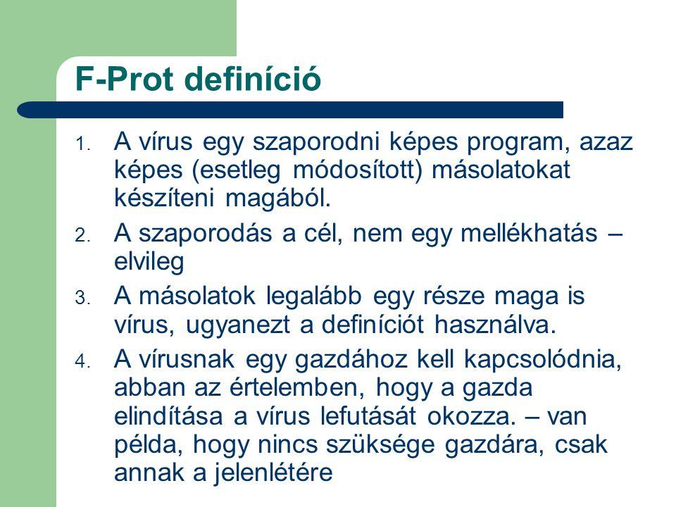 F-Prot definíció 1.