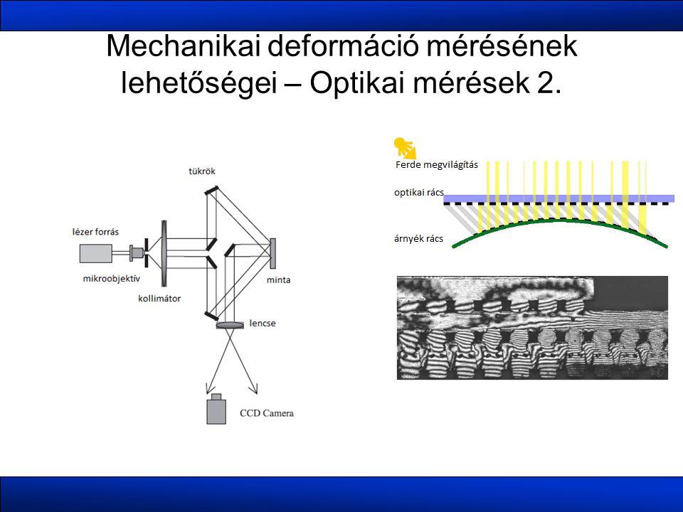 Mechanikai deformáció mérésének lehetőségei – Optikai mérések 2.