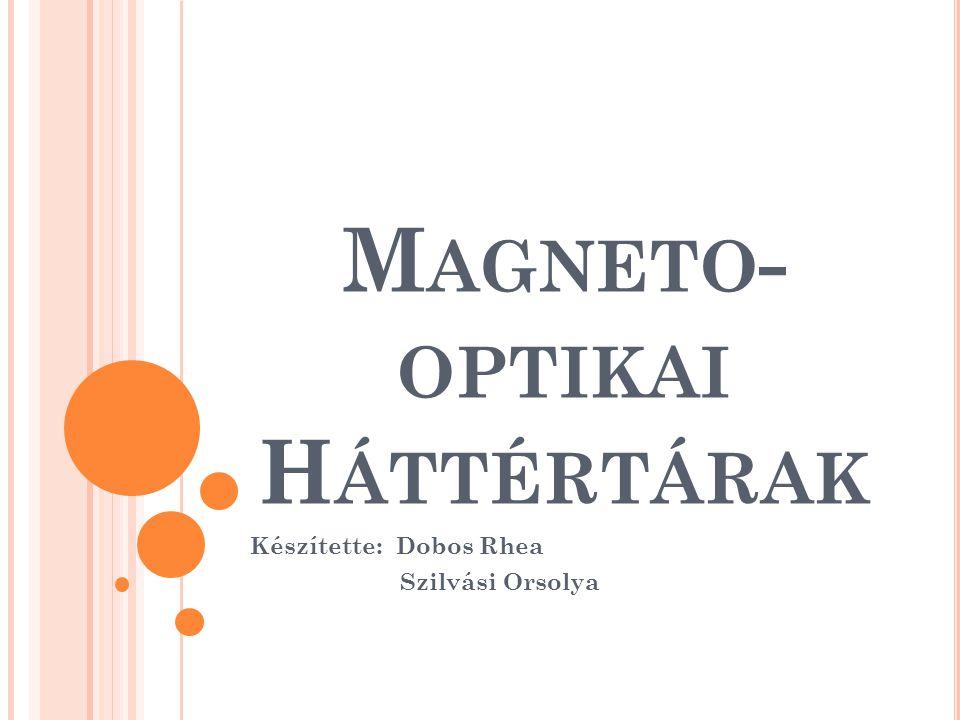 M AGNETO - OPTIKAI H ÁTTÉRTÁRAK Készítette: Dobos Rhea Szilvási Orsolya