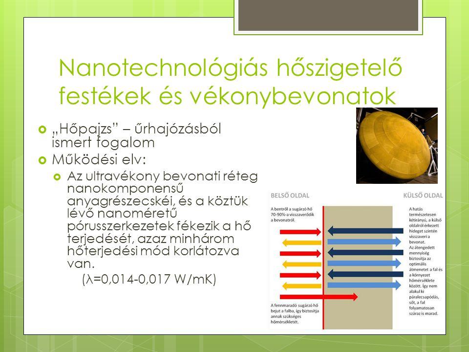 """Nanotechnológiás hőszigetelő festékek és vékonybevonatok  """"Hőpajzs"""" – űrhajózásból ismert fogalom  Működési elv:  Az ultravékony bevonati réteg nan"""
