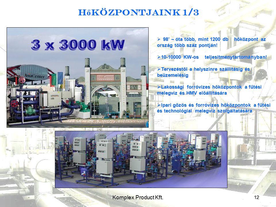 H ő központjaink 1/3 12 Komplex Product Kft.