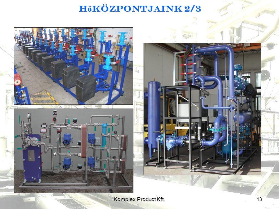 H ő központjaink 2/3 13 Komplex Product Kft.