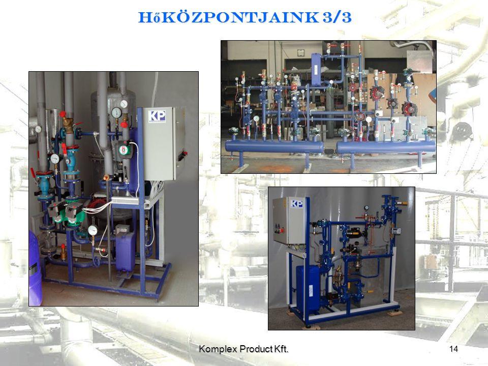 H ő központjaink 3/3 14 Komplex Product Kft.