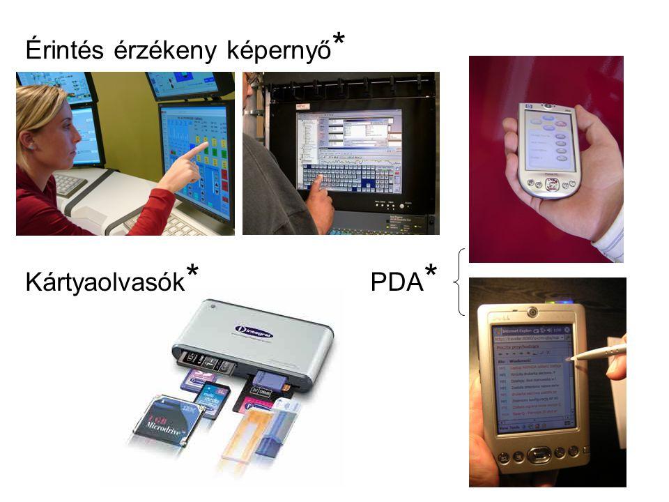 Érintés érzékeny képernyő * PDA * Kártyaolvasók *