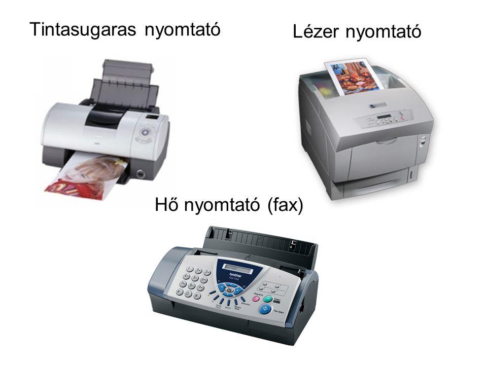 Tintasugaras nyomtató Lézer nyomtató Hő nyomtató (fax)
