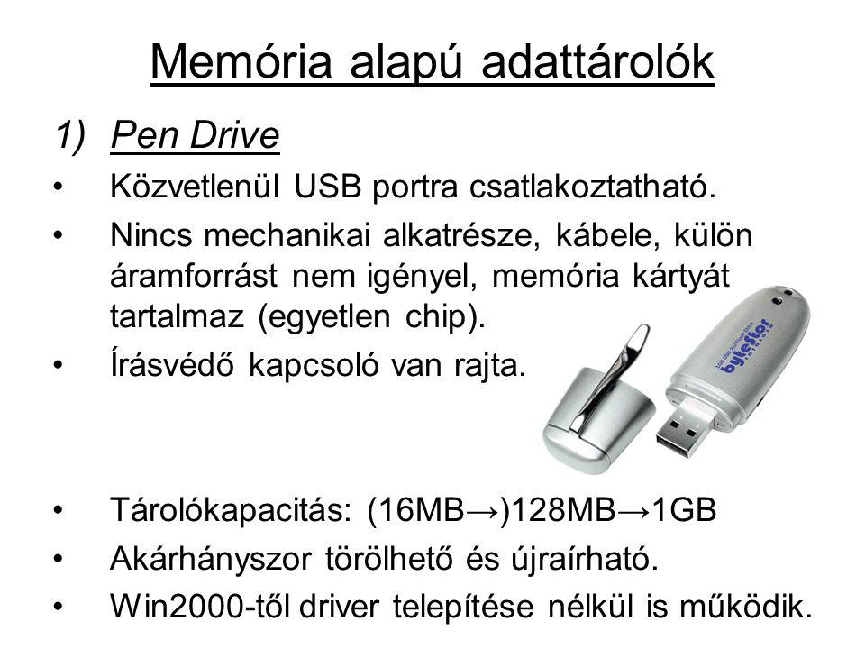1)Pen Drive •Közvetlenül USB portra csatlakoztatható.