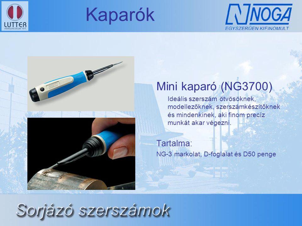 Kaparók Mini kaparó (NG3700) Ideális szerszám ötvösöknek, modellezőknek, szerszámkészítőknek és mindenkinek, aki finom precíz munkát akar végezni. Tar