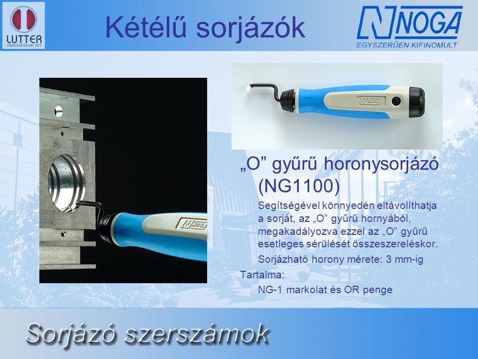 """Kétélű sorjázók """"O gyűrű horonysorjázó (NG1100) Segítségével könnyedén eltávolíthatja a sorját, az """"O gyűrű hornyából, megakadályozva ezzel az """"O gyűrű esetleges sérülését összeszereléskor."""