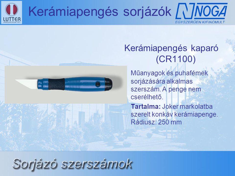 Kerámiapengés sorjázók Kerámiapengés kaparó (CR1100) Műanyagok és puhafémek sorjázására alkalmas szerszám.