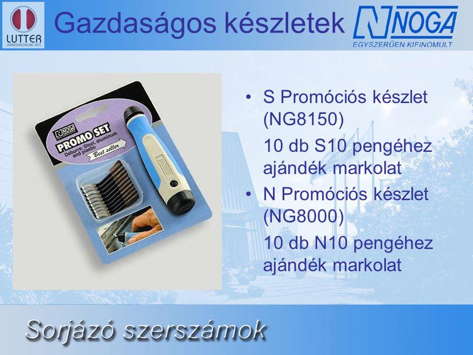 Gazdaságos készletek •S Promóciós készlet (NG8150) 10 db S10 pengéhez ajándék markolat •N Promóciós készlet (NG8000) 10 db N10 pengéhez ajándék markol