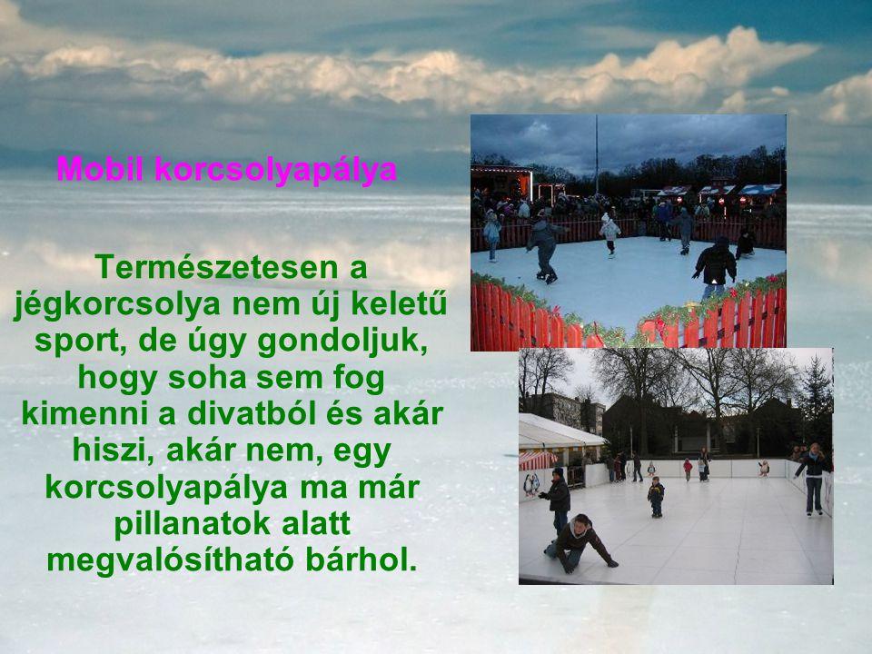 Mobil korcsolyapálya Természetesen a jégkorcsolya nem új keletű sport, de úgy gondoljuk, hogy soha sem fog kimenni a divatból és akár hiszi, akár nem, egy korcsolyapálya ma már pillanatok alatt megvalósítható bárhol.