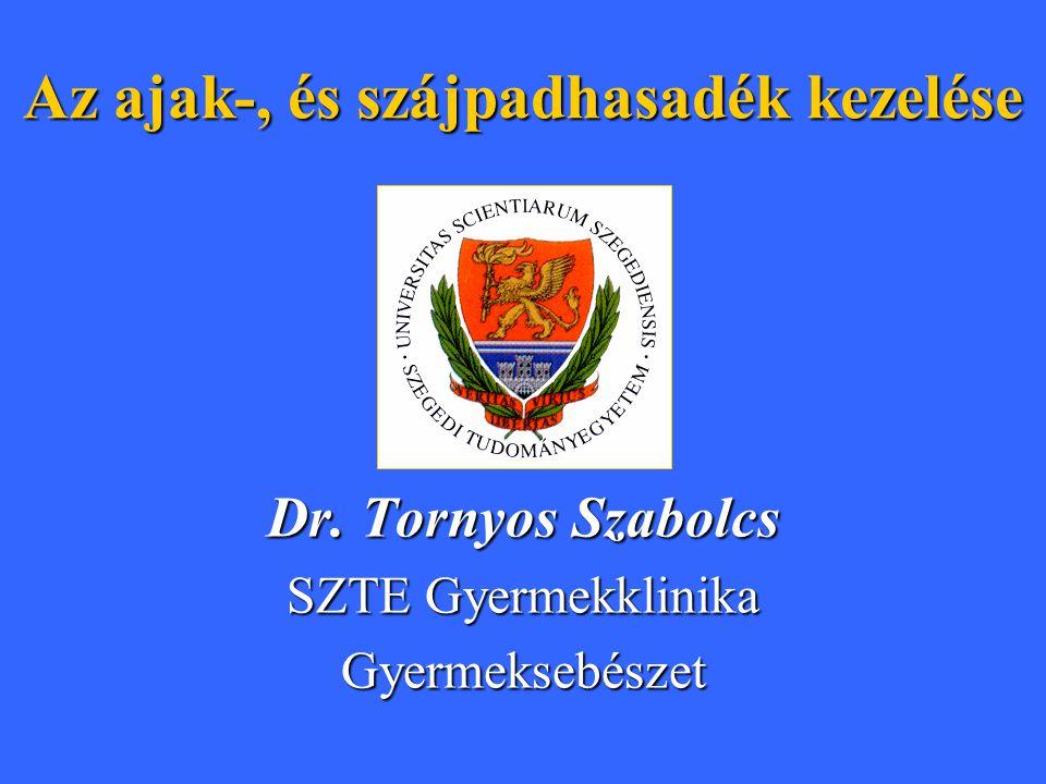 Dr. Tornyos Szabolcs SZTE Gyermekklinika Gyermeksebészet Az ajak-, és szájpadhasadék kezelése