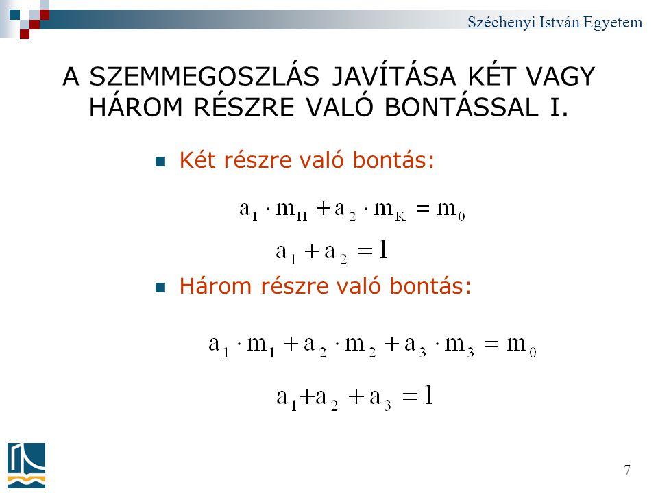 Széchenyi István Egyetem 218 7.3.2.