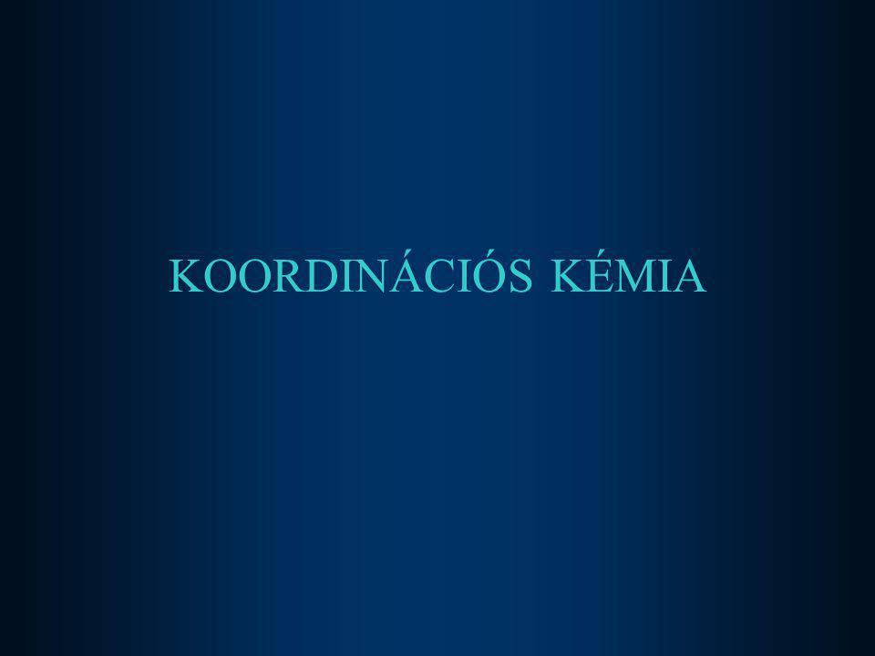KOORDINÁCIÓS KÉMIA