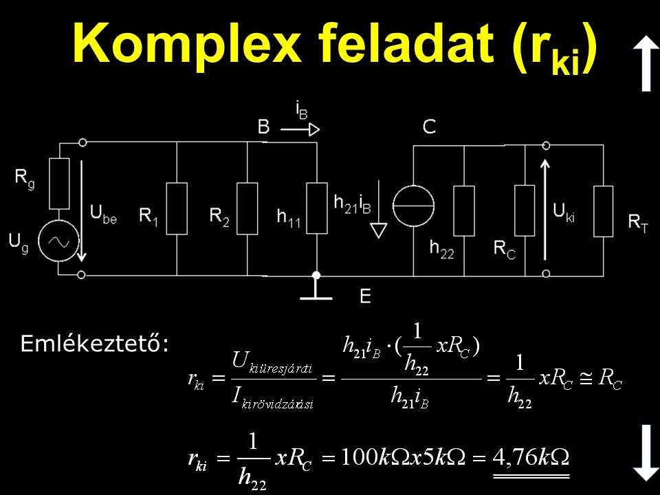 Emlékeztető: Komplex feladat (r ki )